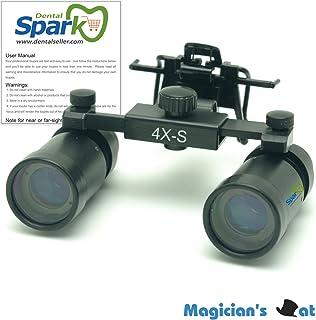 Spark 拡大鏡 4.0倍に拡大でき 専門 歯科用 精密280-380mm調整でき ヘッドルーペ メガネルーペ 折りたたみができ 製作 機械 作業 生物研究 開発にも使える