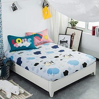 SHIYANTQ 1 Drap-Housse 100% Coton pour Enfants/Adultes Motif Fraise Rose, Claire, 150cmx200cmx25cm