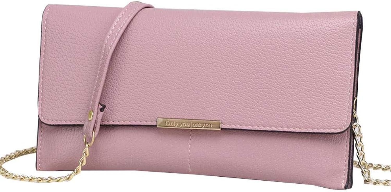QINJLI Weibliche Crossbody Handtasche einfache Umhängetasche Münze Kette Kette Kette Handy Tasche 21,5  12,0  3,0 cm B07MH48694 f7fc68