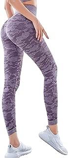 Harewom Women's High Waist Yoga Pants Workout Running Capri Leggings