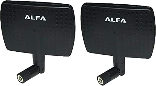 discount Alfa 2.4HGz sale WiFi Antenna - 7dBi RP-SMA Panel Screw-On Swivel for Netwrok 2021 Adaptors - Also Works for 3DR Solo Drone, DJI Phantom 3 Drone, Yuneec Typhoon H ST16 Controller, adds Range online sale