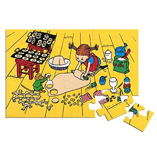 Micki & Friends 44-3785-00 Pippi Langstrumpf Bodenpuzzle Kinder-Riesenpuzzle - Fußboden-Kinderpuzzle - Puzzle 24 Teile - 92x62 cm - ab 3 Jahren