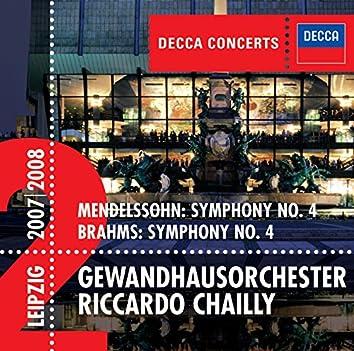Mendelssohn: Symphony No.4 / Brahms: Symphony No.4