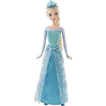 Amazon Com Disney Frozen Sparkle Princess Elsa Doll Toys Games