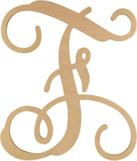 48 Hour Monogram Choose Your Letter and Size! - Single Vine Unfinished Letter (F, 16)