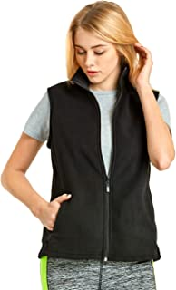 ET TU Women's Zip Up Polar Fleece Vest