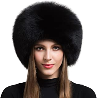 Women's Real Fox Fur Hat Winter Thick Fur Hat Natural Fur and Sheepskin Warm Hat