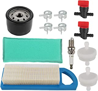 Mckin 794422 Air Filter + 492932S 492932 Oil Filter + 491055S Spark Plug Tune Up Kit for Briggs and Stratton 797008 697634 697014 698083 394358S 394358 Intek 15.5 and 17-17.5HP Engines