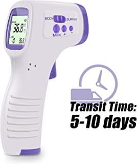 AuKing Non-Contact Infrared Forehead Thermometer Gun, LED Display Digital Medical Ear Household Thermometer, Smart Sensor Gun for Infants and Adults - CE and FCC Approved(Transit time: 5-10 Days)