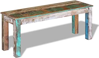 Festnight Reclaimed Wood Bench for Home Kitchen or Entryway, 43.3