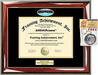 Diploma Frame UCF University of Central Florida Graduation Gift Idea Engraved Picture Frames Engraving Degree Certificate Holder Graduate Him Her Nursing Business Engineering Education School