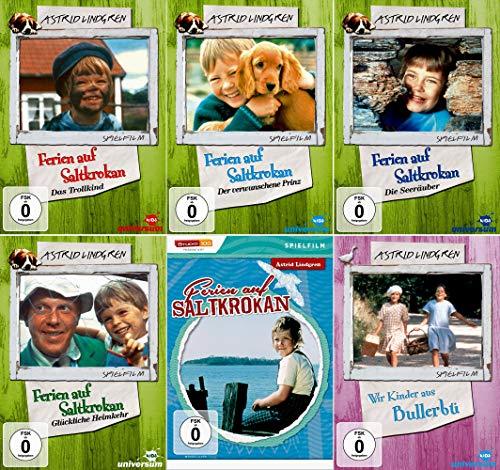 Astrid Lindgren Edition - Ferien auf Saltkrokan Komplette Collection + Wir Kinder aus Bullerbü [6er DVD-Set]