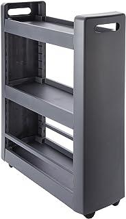 EDA 10495 G.Ant PX25 DESSERTE MOBILO 3 étagères modulables, polypropylène, Gris Anthracite, Dim. : 60 x 22 x 79 cm