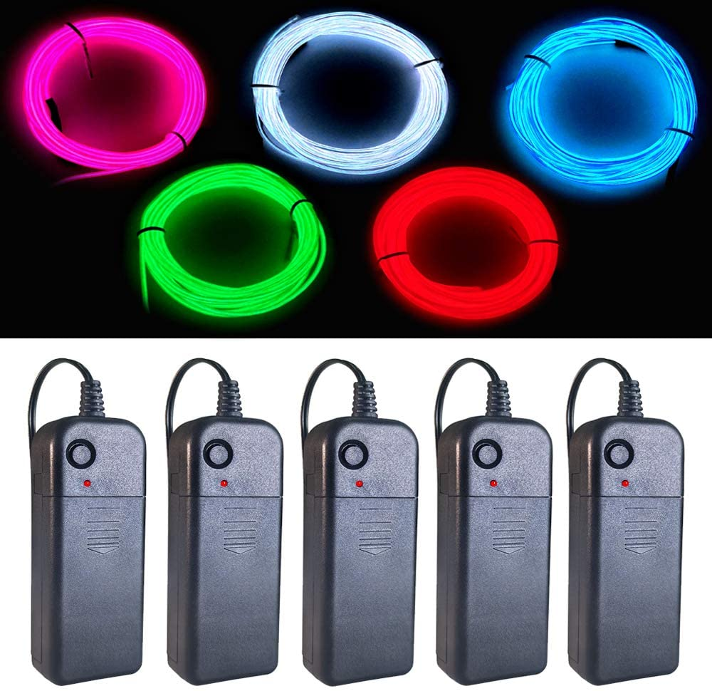EL Wire Portable Set MaxLax Gorgeous 9ft Glow Cuttable Pack Neon Ranking TOP4 Battery