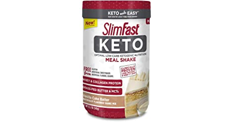 SlimFast Keto Vanilla Cake Batter Meal Replacement Shake