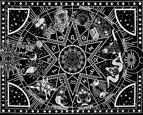 Amajoy 12 Constellation Arazzo Arazzo in bianco e nero per camera da letto Soggiorno Dormitorio...