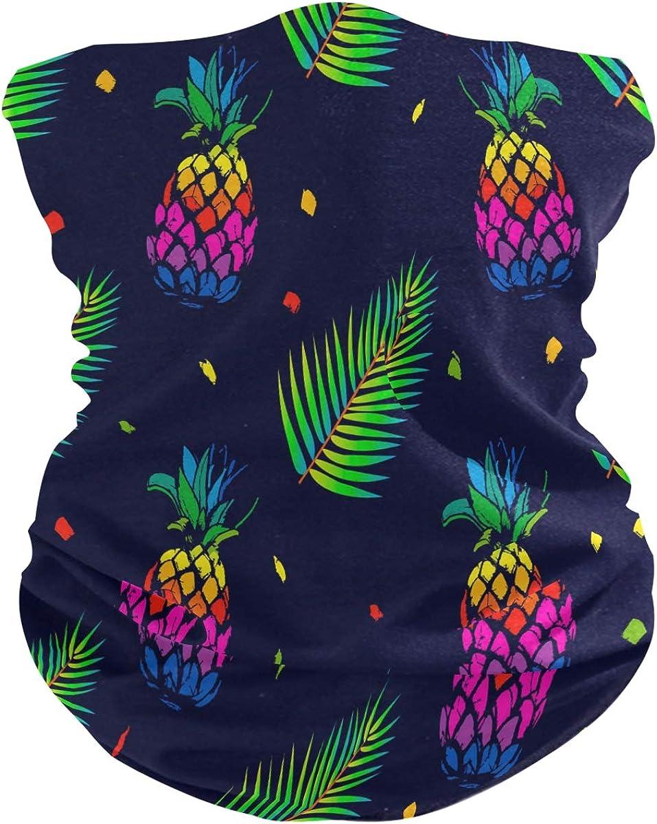 Face Scarf Bandana Neck Gaiter Pineapple Fruits Headband Headwear for Cycling Fishing Hiking Camping