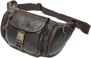 Oivias Waist Pack-Men's Waist Pockets, Vintage Leather Shoulder Bag, Outdoor Multi-Function Crossbody Bag, Casual Fashion Chest Bag, Waist Bag(Size:20 * 17cm) (Color : Brown)