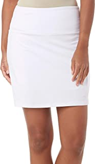 Womens Solid Tummy Control Skort Large White