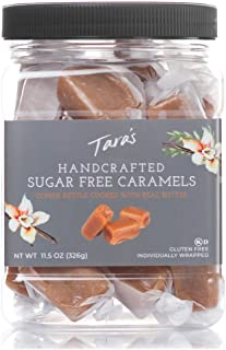 Tara's All Natural Handcrafted Gourmet Sugar Free Caramel: Small Batch, Kettle Cooked, Creamy & Individually Wrapped - 11....