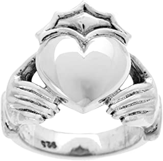 mens heavy gold claddagh ring