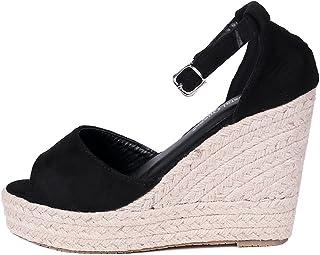 [Jedershop] 美脚 ニットヒールトレンド 疲れにくい ウェッジソール 厚底 サンダル レディース 女の子 歩きやすい