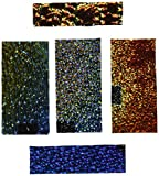 DichroMagic Dichroic Wissmach Texture Scrap on Black - 90 Coe, 1/4 lb...