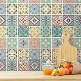 Walplus Marbella Colorido Español Azulejo Set de Pegatinas - 15 X 15CM (6 X 6 IN) - 24 Piezas, Bricolaje Arte, Decoraciones para el Hogar, Adhesivos, Decoración de Cocina, Baño Ideas
