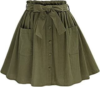 Delicato Semplici Svasata Skirts Solida Colore Mini Gonne a Pieghe Corte Scolastiche Heheja Gonne Donne Ragazze