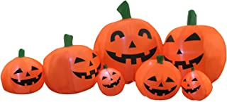 BIGJOYS 7 Ft Halloween Inflatable Pumpkin Patch Family Decoration for Indoors Outdoors