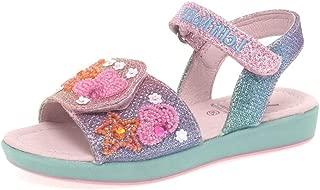 Rainbow Blossom Sandal Multi Glitter Textile Infant Strap Sandals