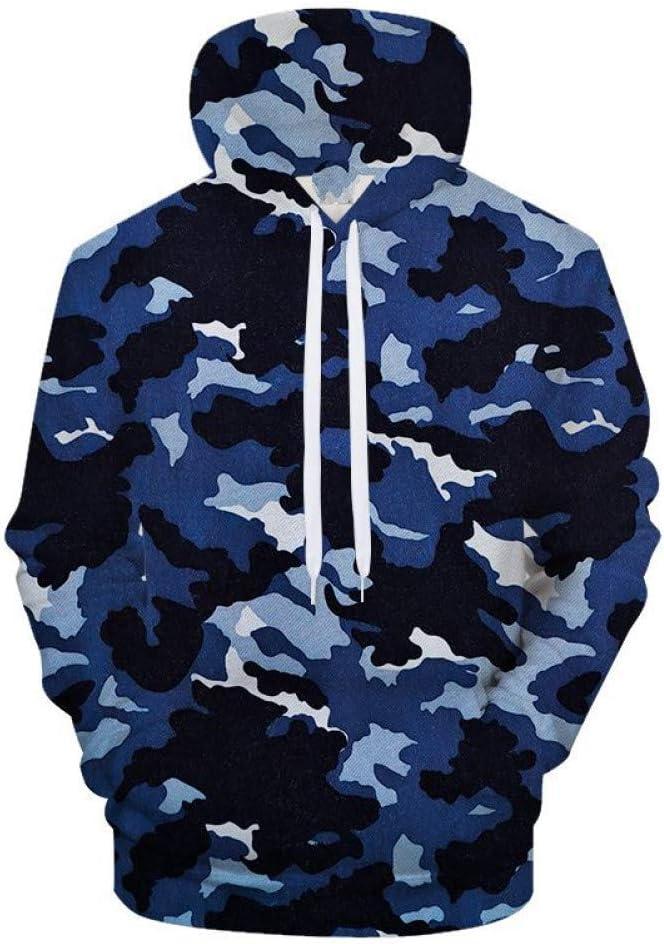 PU Printemps et Automne Marine Camo Bleu 3Dprint Hoodies Hommes Femmes Sweat Survêtement Survêtement Veste Hoodie Manteau Pull Streatwear,** L ** L