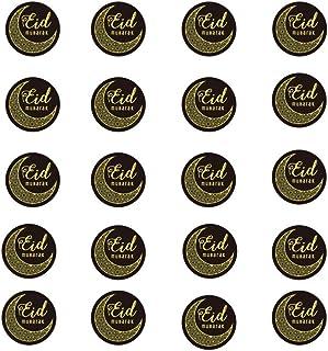 Toyvian 1 Set Eid Mubarak Stickers Paper Eid Mubarak Favor Gift Bag Sealing Stickers Ramadan Box Cake Seal Laber Islamic P...