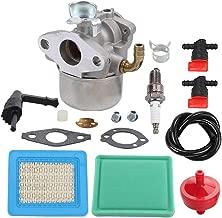 Allong Carburetor Air Filter Spark Plug Fuel Hose Shut Off Valve for Briggs & Stratton Craftsman Tiller Intek 190 6 HP 206 5.5hp Engine Motor 6.5 HP Intek Power Washer Go Kart Generator 791077 696981
