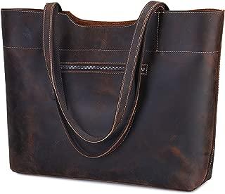 Vintage Genuine Leather Tote Bag for Women Large Handbag Shoulder Purse