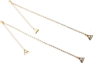 JHTY Women Party Wedding Dress Rhinestone Diamante Bra Straps Crystal Clear Single Row-One Pair Gold