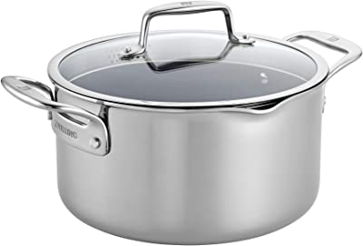 ZWILLING Clad CFX 6-qt Stainless Steel Ceramic Nonstick Dutch Oven