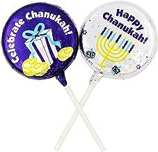 Hanukkah Chocolate Lollipops- Chanukah Chocolate Lolly Pops Foil Wrapped Milk Chocolate OU-D Ko (Pack of 2)