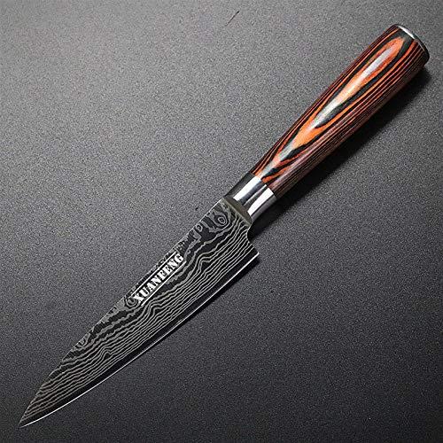 Juego Carne cuchillo láser Damasco Cuchillo de cocina Set de alta calidad vegetal interior Cuchillo japonés del cocinero Cuchillo Cuchillo Sande cuchillos (Color : Utility Knife)