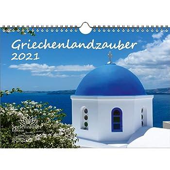 Calendrier grec magique DIN A4 pour 2021 Grèce – Contenu du