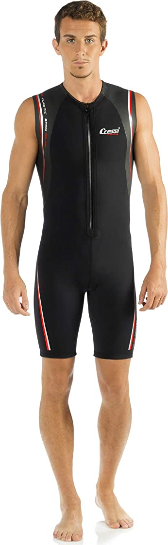 muta uomo shorty cressi termico man wetsuit 2 mm, muta shorty in neoprene high stretch dg000902