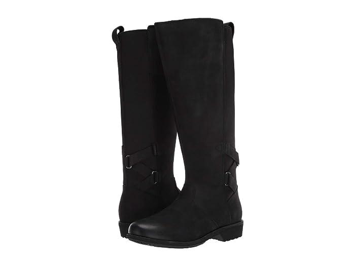 Teva  Ellery Tall Waterproof (Black) Womens Shoes
