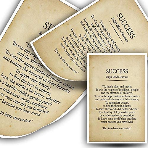 Success Ralph Waldo Emerson Poem Prints Poster Canvas Art Wall Decorative Picture for Living product image