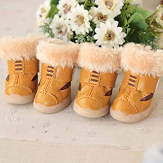SENERY Waterproof Dog Boots Rubber Sole Anti-Slip Pet Shoes Upper Protector Rain Footwear All Seasons Cats Booties