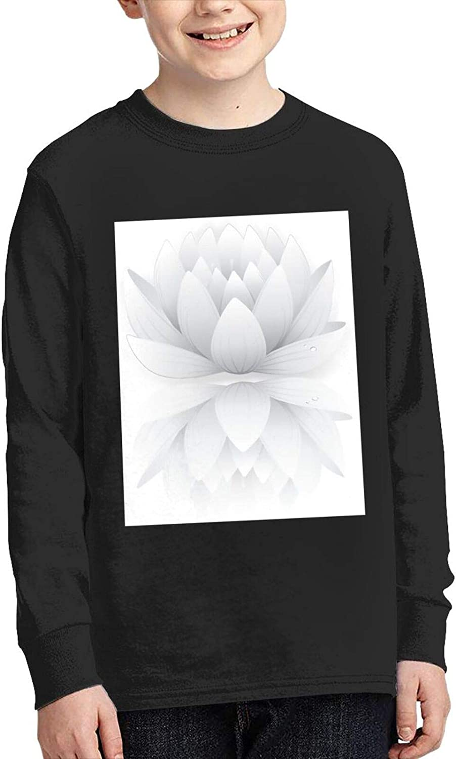 TZT Grey Lotus Sweater Fashion and Comfortable Children's Sweater
