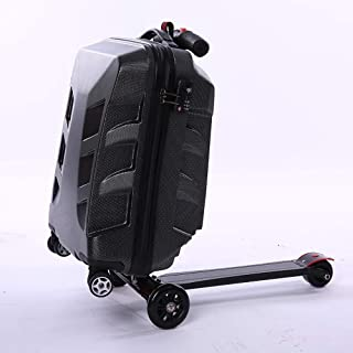 Trolley Case - Fashion PC Material Trolley Case/Folding Car Version Universal Wheel Luggage/Fire Anti-Theft Luggage Box / 27 Inches / 55 * 37 * 31 cm Well Made
