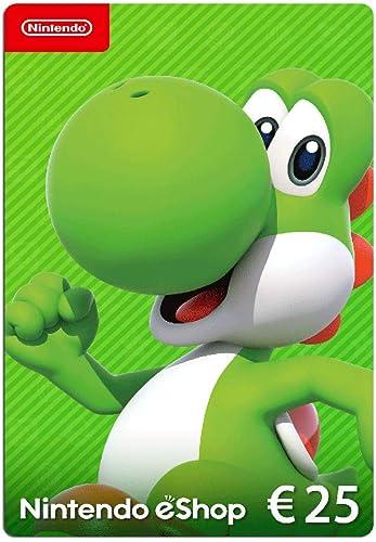 Carte Nintendo eShop 25 EUR | Code de téléchargement (Switch/3DS/Wii-U)