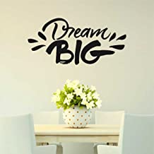 Rawpockets 'Dream Big' Wall Sticker (PVC Vinyl, 28 cm x 58cm, Black)
