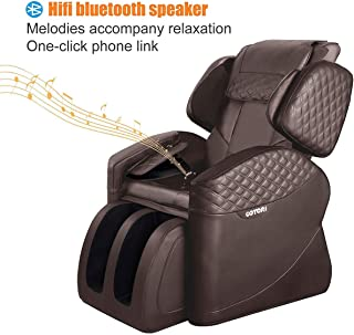 OOTORI Massage Chairs & Recliner Faux Leather Full Body Zero Gravity Remote Control, Heat & Vibration Modes Music (Brown)