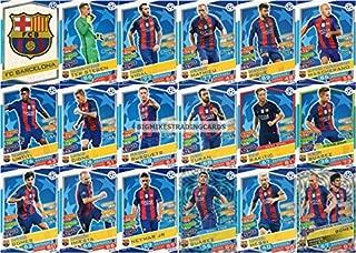 2016/17 MATCH ATTAX CHAMPIONS LEAGUE FC BARCELONA TEAM SET 18 CARDS